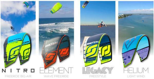 Switch Kiteboarding kites